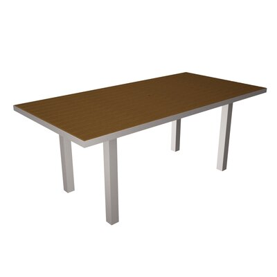 Euro Dining Table Table Finish: Silver / Teak