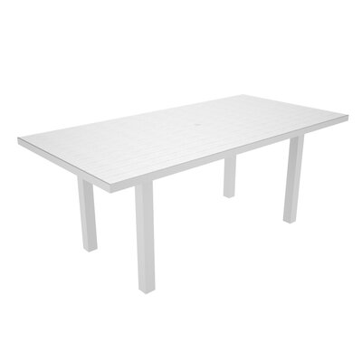 Euro Dining Table Finish: Silver / White