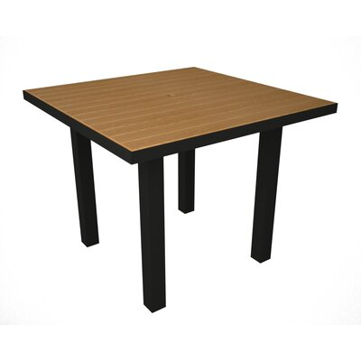 Euro Dining Table Finish: Black & Plastique