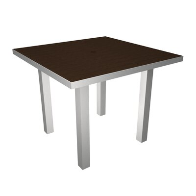 Euro Dining Table Finish: Silver & Mahogany