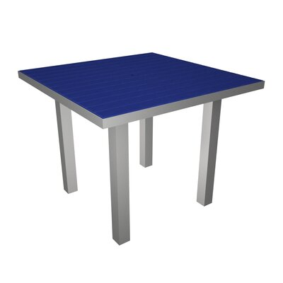 Euro Dining Table Finish: Silver & Pacific Blue