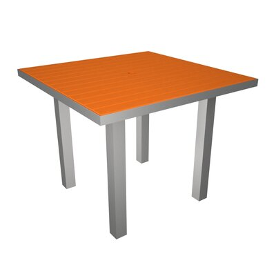 Euro Dining Table Finish: Silver & Tangerine