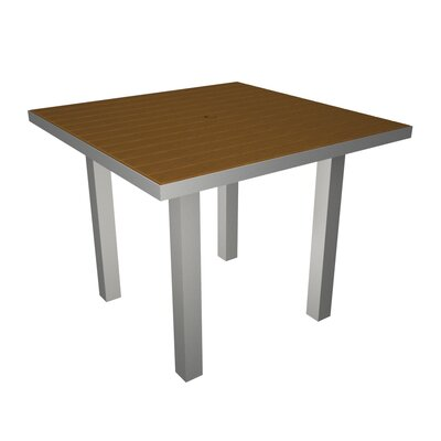Euro Dining Table Finish: Silver & Teak