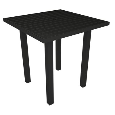 Euro Side Table Base Finish: Textured Black, Top Finish: Black