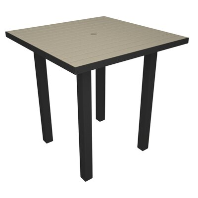 Euro Side Table Base Finish: Textured Black, Top Finish: Sand