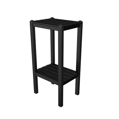 Two Shelf Bar Height Side Table Finish: Black