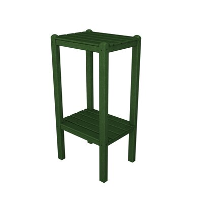 Two Shelf Bar Height Side Table Finish: Green
