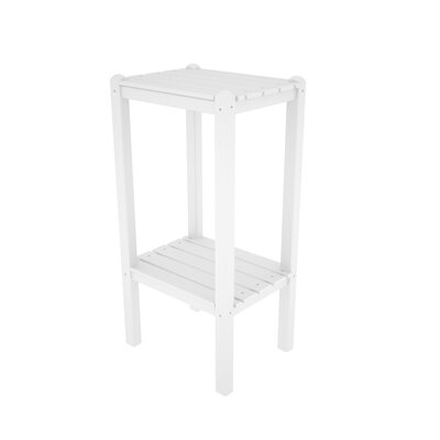 Two Shelf Bar Height Side Table Finish: White