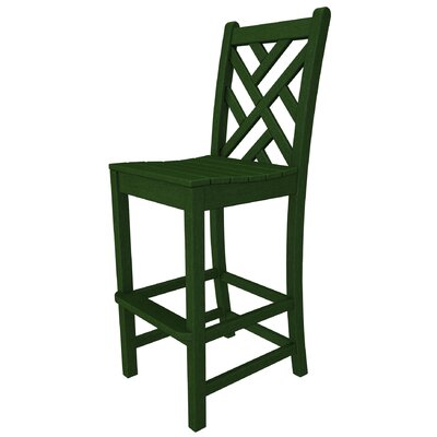 American home decor and furniture store - Chippendale 30 inch Bar Stool Frame - Finish: Green - Patio Bar Stools Outdoor Furniture