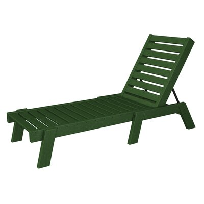 Captain Chaise Lounge Finish: Hunter Green