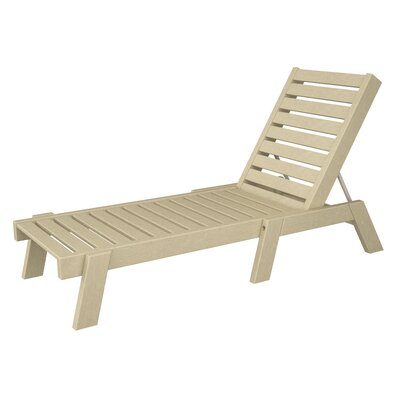 Captain Chaise Lounge Finish: Sand