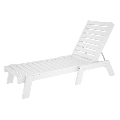 Captain Chaise Lounge Finish: White