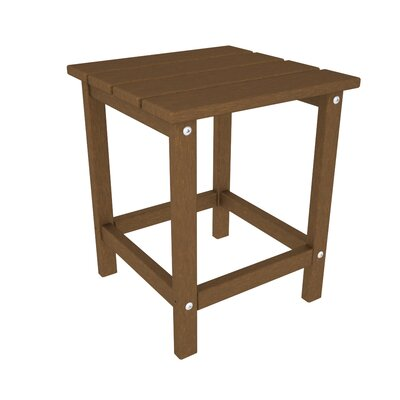 Long Island Side Table Finish: Teak, Table Top Size: 18