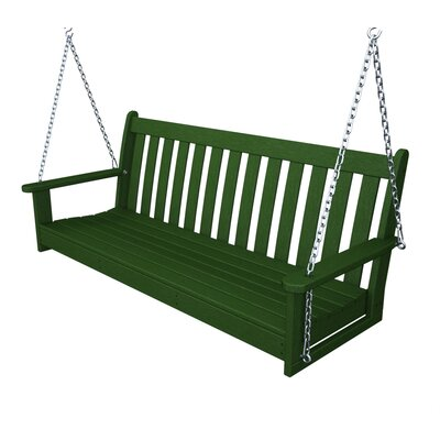 Vineyard Porch Swing Finish: Green