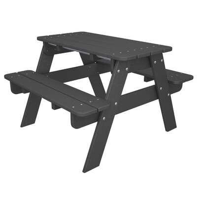 POLYWOOD Kids Slate Grey Picnic Table