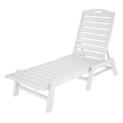 Nautical Chaise Lounge  Finish: White
