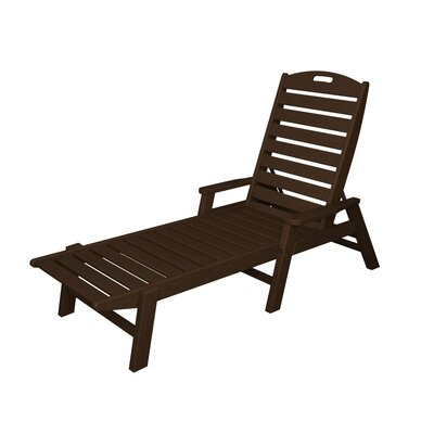 Nautical Chaise Lounge Finish: Mahogany