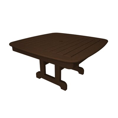 Nautical Chat Table Finish: Mahogany, Table Size: 37
