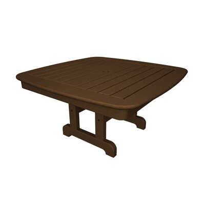 Nautical Square Conversation Coffee Table Finish: Teak, Table Top Size: 37