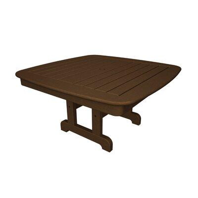 Nautical Chat Table Finish: Teak, Table Size: 37