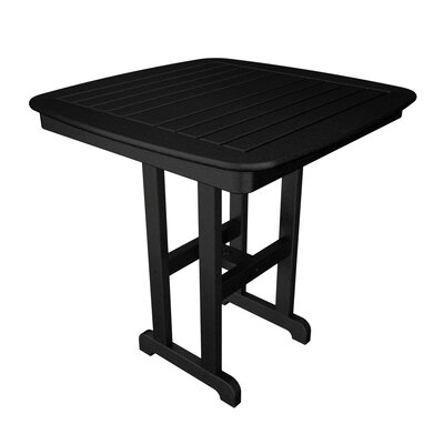 Nautical Bar Table Finish: Black, Table Size: 37