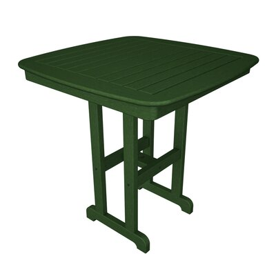 Nautical Bar Table Finish: Green, Table Size: 37
