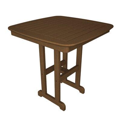 Nautical Bar Table Finish: Teak, Table Size: 37