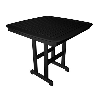 Nautical Bar Table Finish: Black, Table Size: 44