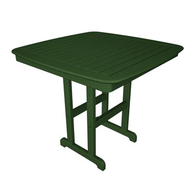 Nautical Bar Table Finish: Green, Table Size: 44