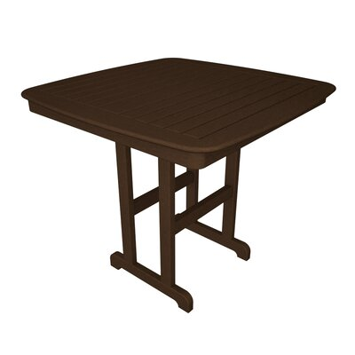 Nautical Bar Table Finish: Mahogany, Table Size: 44
