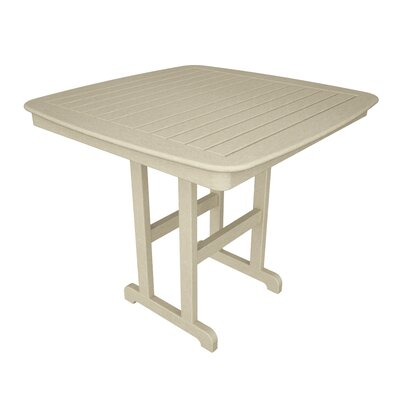 Nautical Bar Table Finish: Sand, Table Size: 44