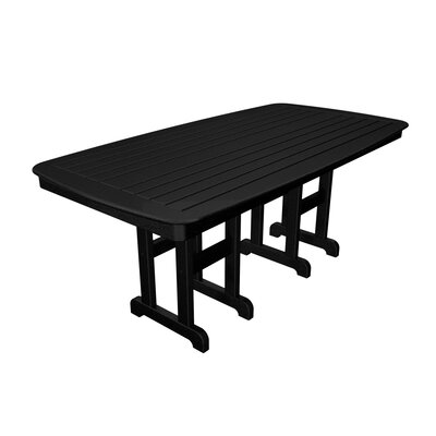 Nautical Dining Table Finish: Black, Table Size: 37