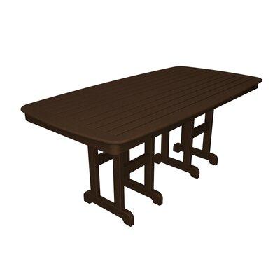 Nautical Dining Table Finish: Mahogany, Table Size: 37