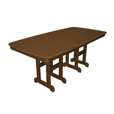 SlateNautical Rectangle Dining Table Finish: Dark Teak, Table Top Size: 37