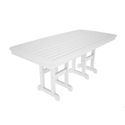 Nautical Dining Table Finish: White, Table Size: 37