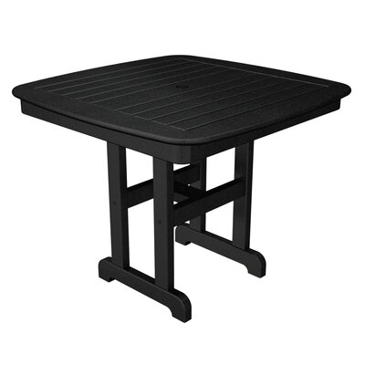 Nautical Square Dining Table Finish: Black, Table Size: 37