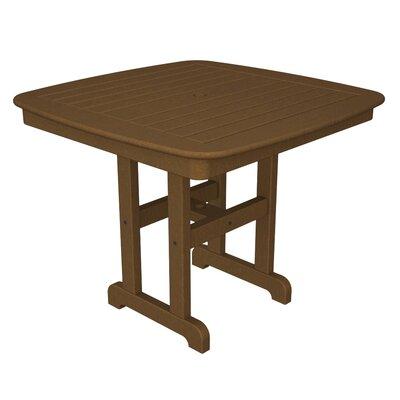 Nautical Square Dining Table Finish: Dark Teak, Table Size: 37