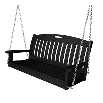 Nautical Porch Swing Finish: Black