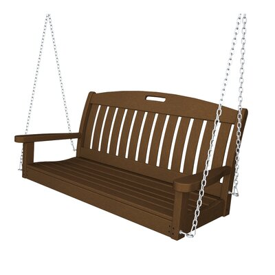 Nautical Porch Swing Finish: Dark Teak