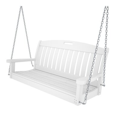 Nautical Porch Swing Finish: White