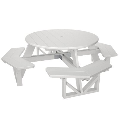 Park Picnic Table Finish: White