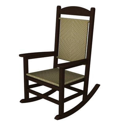 Polywood Presidential Rocking Chair - Finish: Seagrass Weave & Mahogany