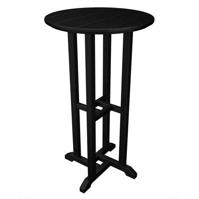 Polywood Traditional Round Bar Table - Finish: Black