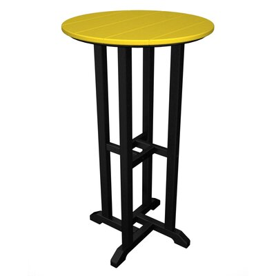 Contempo Bar Table Finish: Black & Lemon