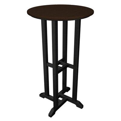 Contempo Bar Table Finish: Black & Mahogany