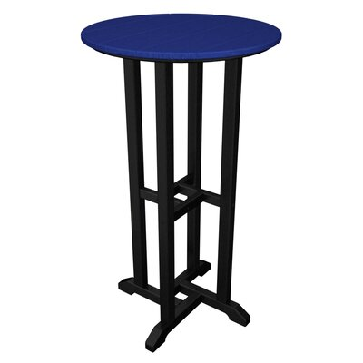Contempo Bar Table Finish: Black & Pacific Blue