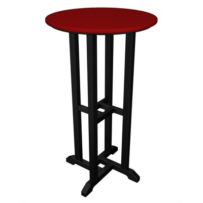 Contempo Bar Table Finish: Black & Sunset Red