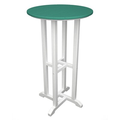 Contempo Bar Table Finish: White & Aruba