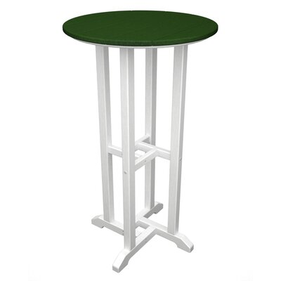Contempo Bar Table Finish: White & Green