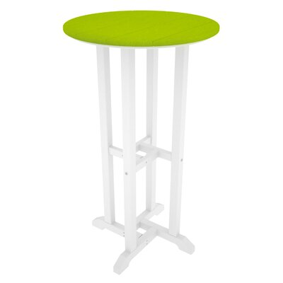 Contempo Bar Table Finish: White & Lime